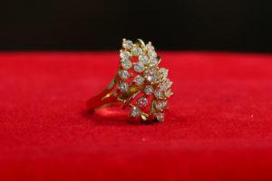 Goldring mit Diamanten - Damen