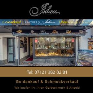 Schaufenster - Goldankauf Juwelier Johan
